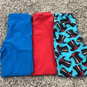 Pack of three kids lularoe leggings